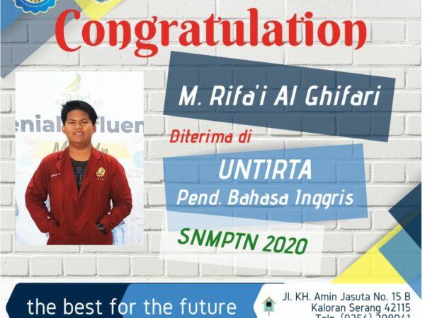 Congratulation Rifa'i dan Riko