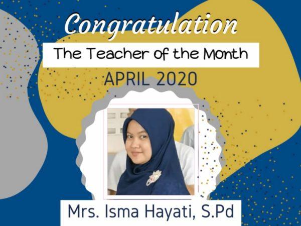 Teacher of the Month April 2020